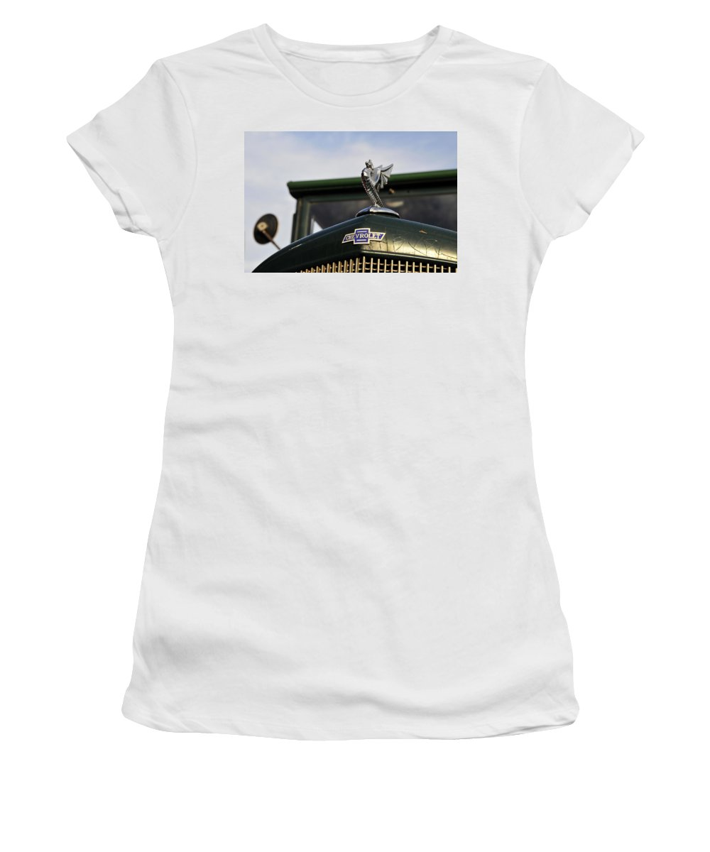 Hood Women's T-Shirt featuring the photograph American Pride by David Lee Thompson