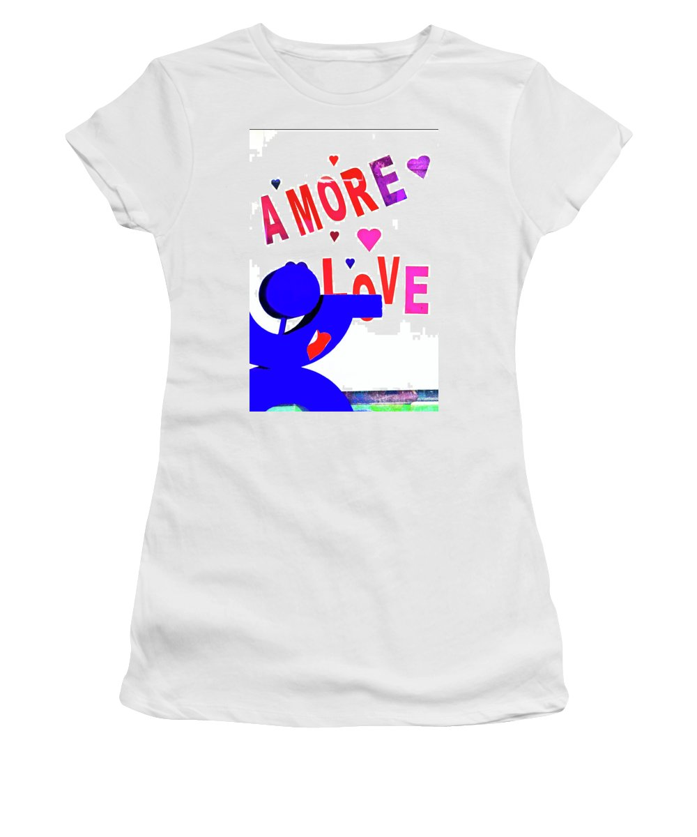 Amore Women's T-Shirt featuring the photograph Amore Love by Frances Hattier