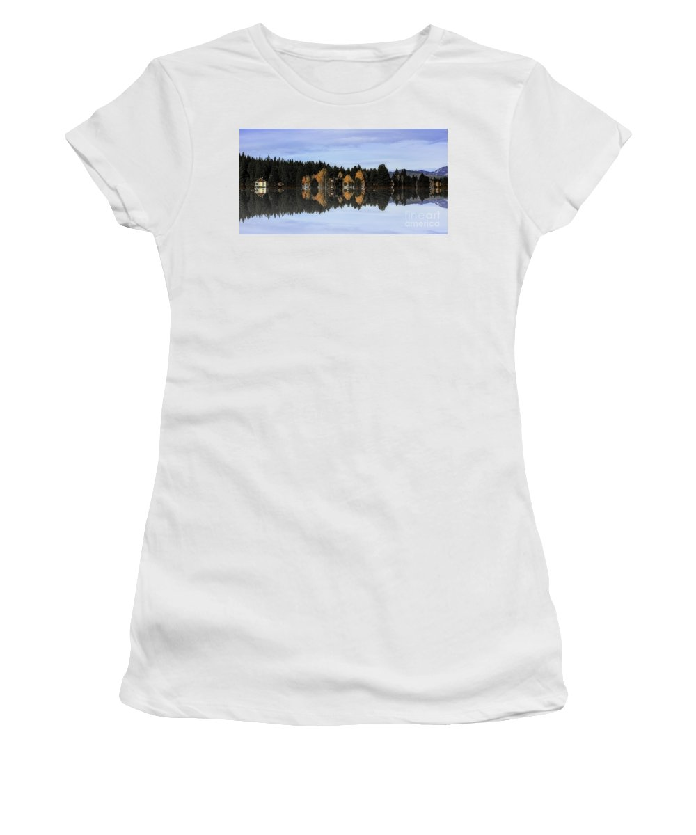 Women's T-Shirt featuring the photograph An Artist's Dream-2 by Nancy Marie Ricketts