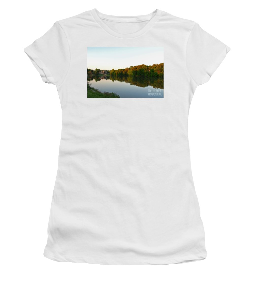 Landscape Women's T-Shirt (Athletic Fit) featuring the photograph An Excellent Vantage Point by Todd Blanchard