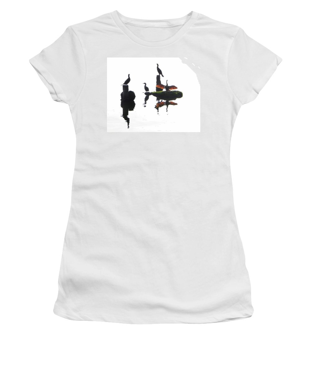 Anhingas Women's T-Shirt featuring the photograph Anhingas Sunning by Francesa Miller