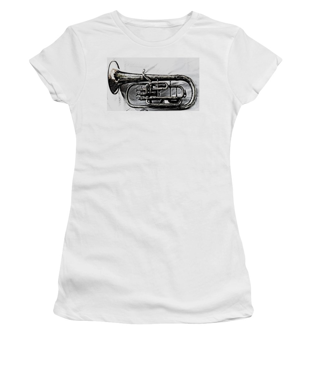 Antique Instrument Women's T-Shirt (Athletic Fit) featuring the photograph Antique Instrument by Christina Stanley