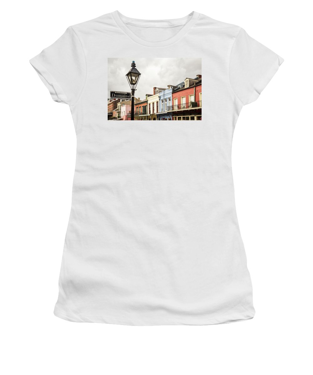 Antique Women's T-Shirt (Athletic Fit) featuring the photograph Architecture Of The French Quarter In New Orleans by Enrico Della Pietra