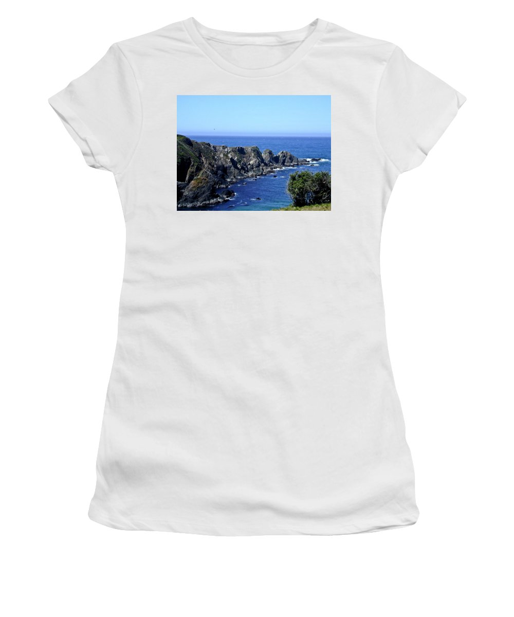 Arena Women's T-Shirt (Athletic Fit) featuring the photograph Arena Point California by Douglas Barnett