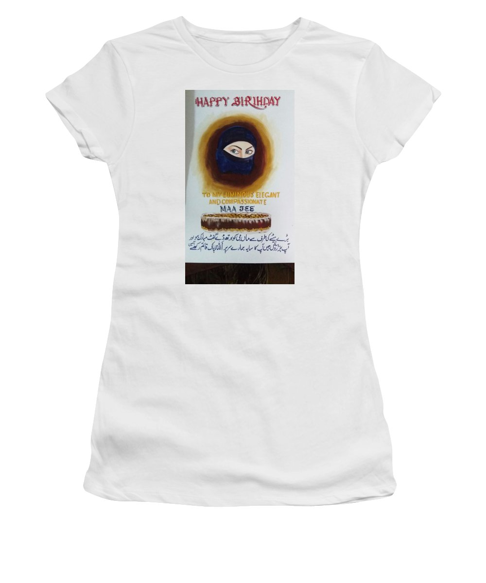 Women's T-Shirt (Athletic Fit) featuring the drawing ART by Naveed Abbas