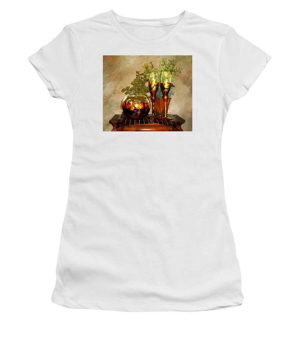 Glass Women's T-Shirt (Athletic Fit) featuring the photograph Artisian Glass by Ellen Cannon