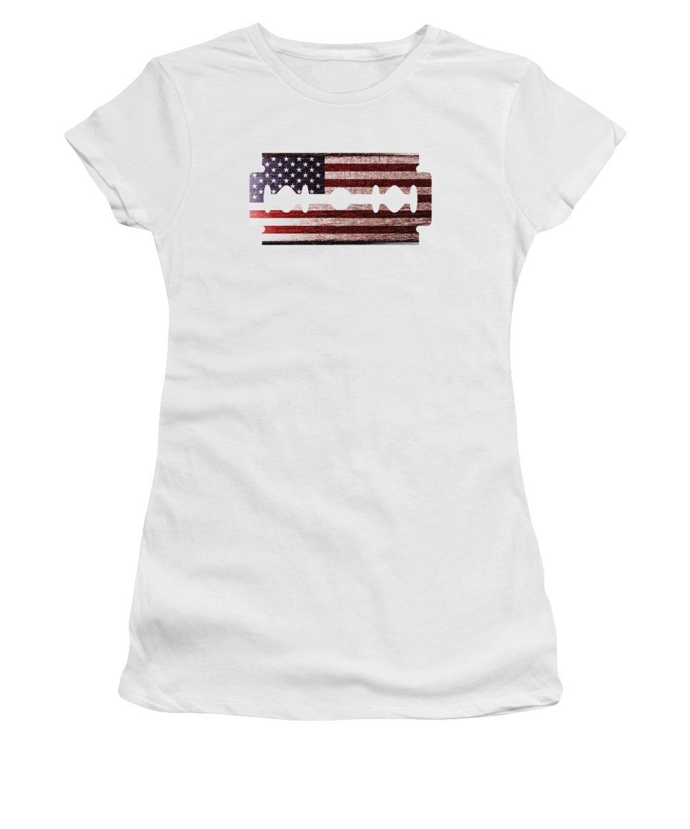 Razor Women's T-Shirt featuring the digital art American Razor by Nicholas Ely