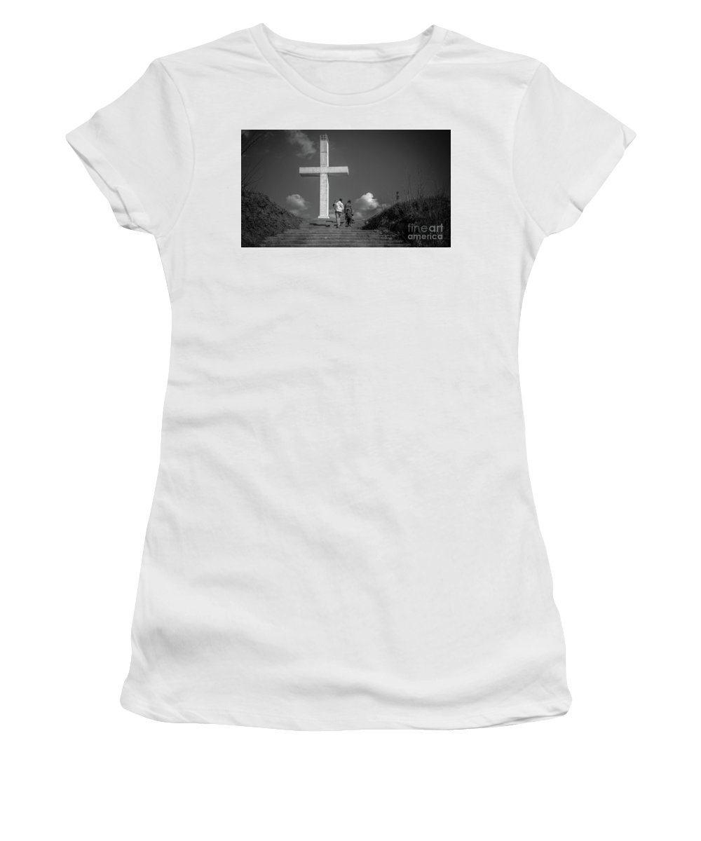 Ascension Women's T-Shirt (Athletic Fit) featuring the photograph Ascension by Lyudmila Prokopenko