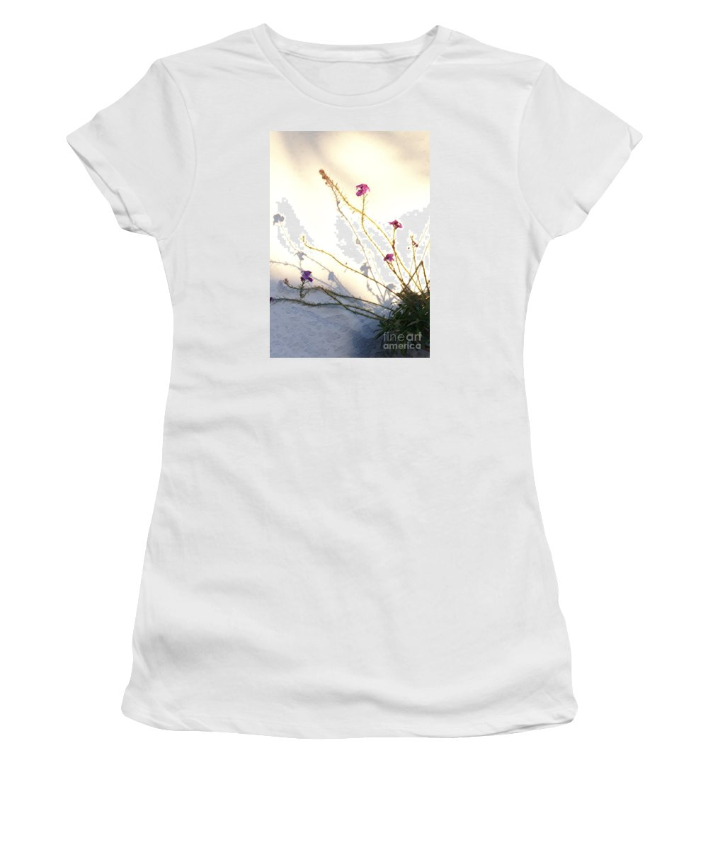 Plant Women's T-Shirt (Athletic Fit) featuring the photograph Aspire by Linda Shafer