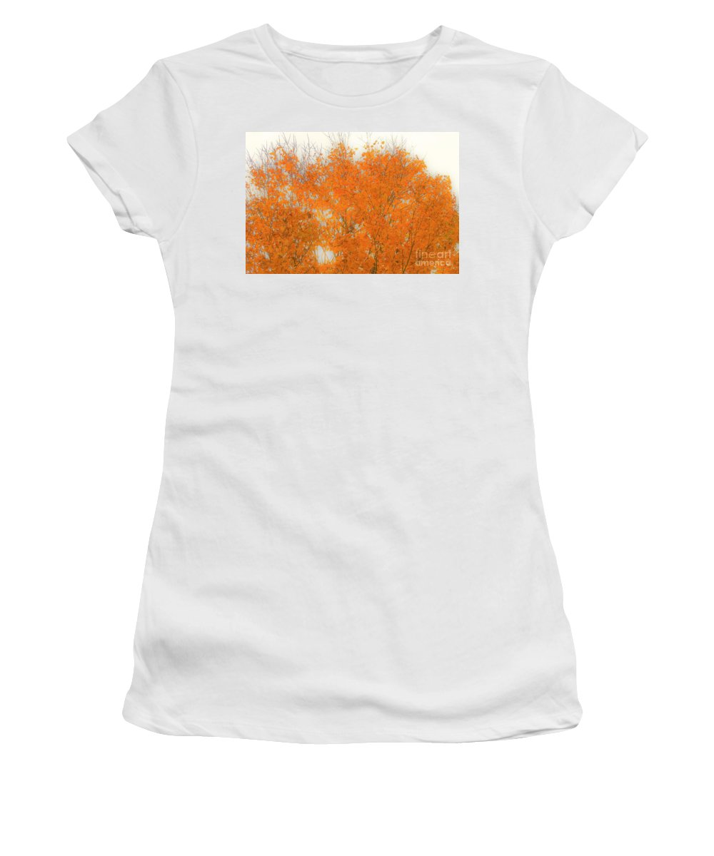Leaves Women's T-Shirt (Athletic Fit) featuring the photograph Autumn Leaves2 by Merle Grenz