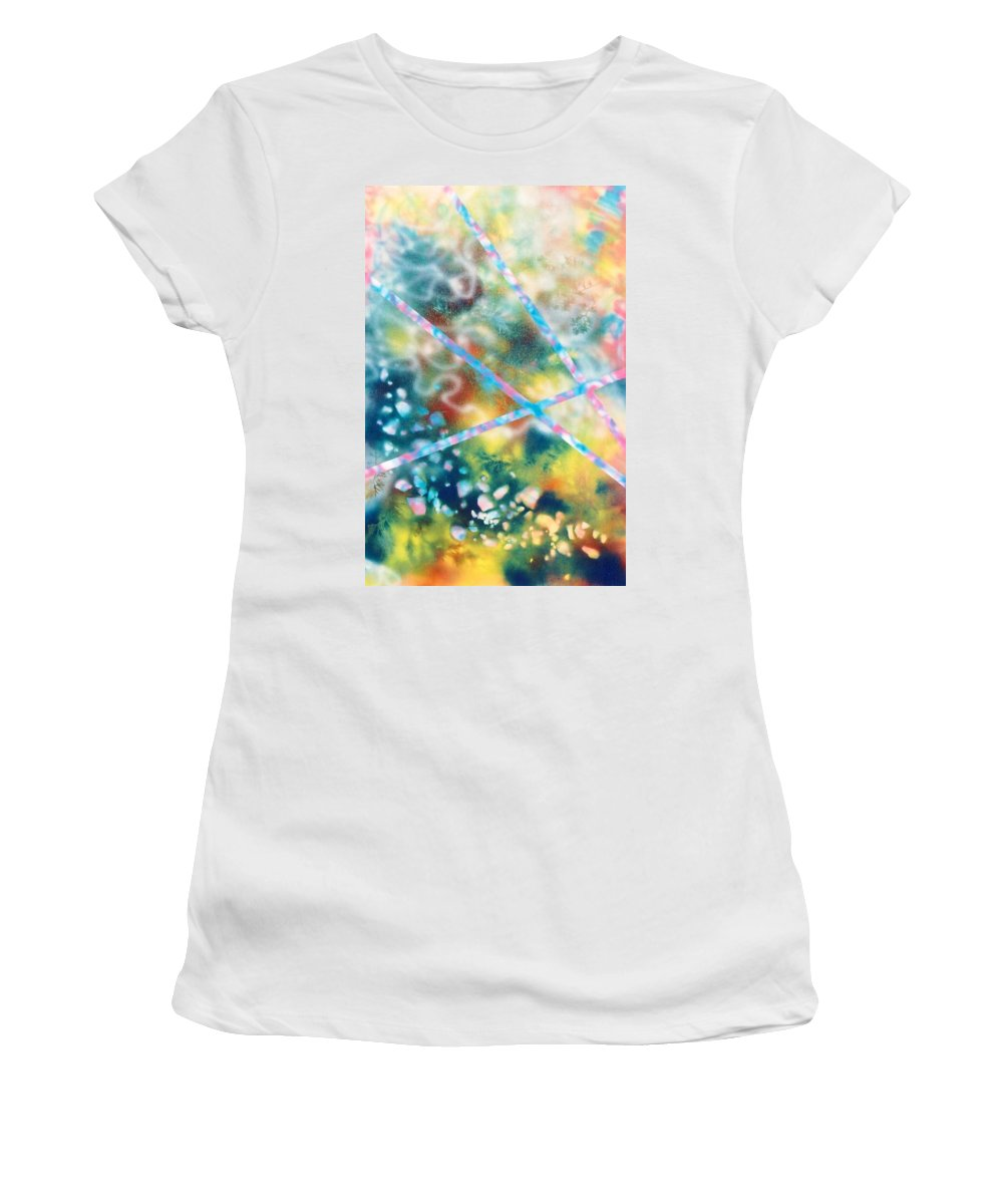 Abstract Women's T-Shirt featuring the painting Autumn by Micah Guenther