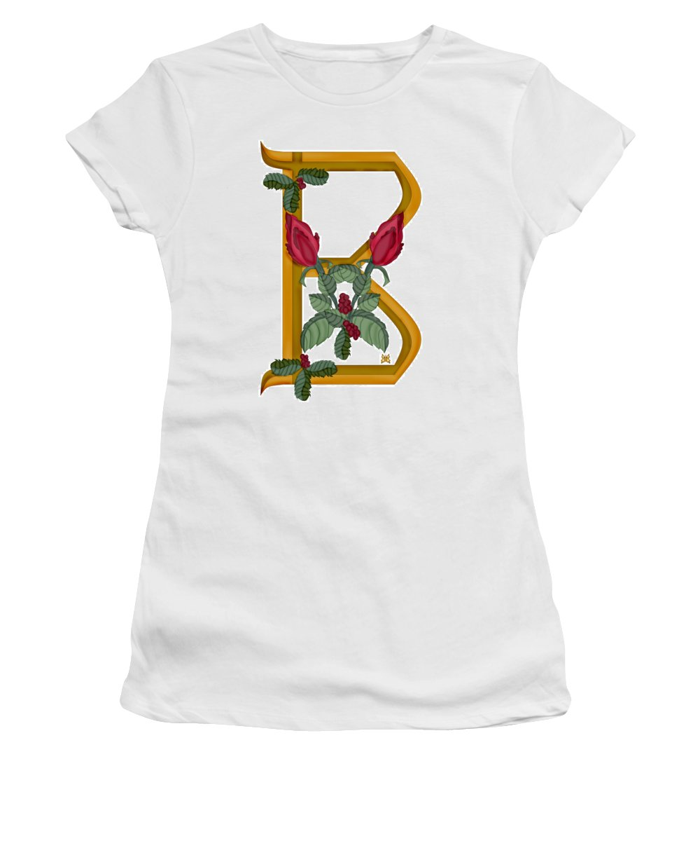 B Women's T-Shirt (Athletic Fit) featuring the painting B Is For Beauty by Anne Norskog