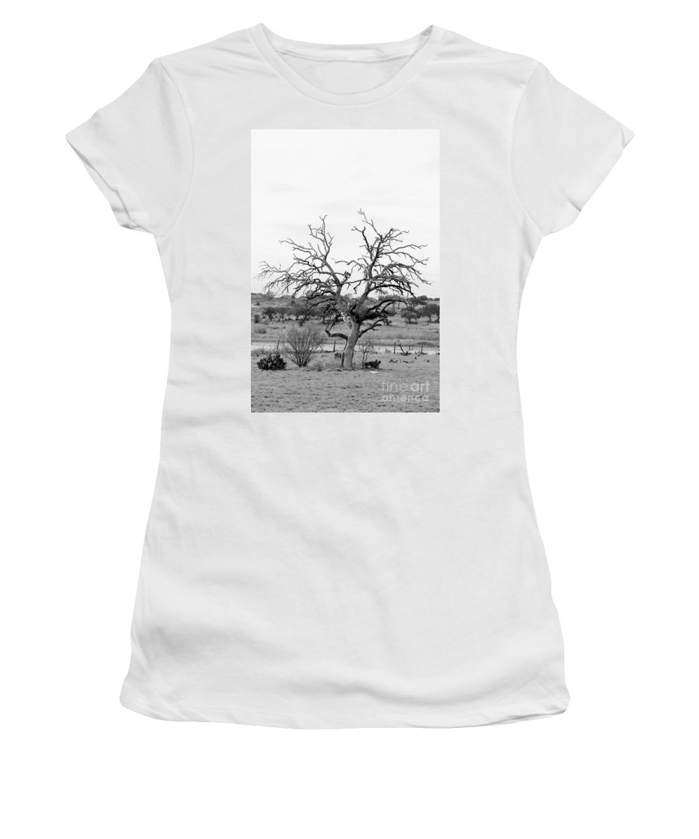 Women's T-Shirt featuring the photograph B/w112 by Jeff Downs