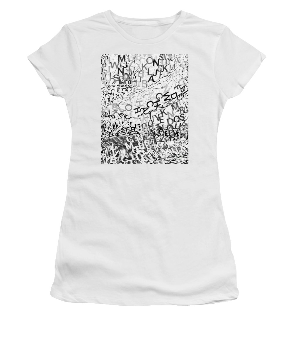 Letters Women's T-Shirt (Athletic Fit) featuring the photograph Babble by Kathleen K Parker