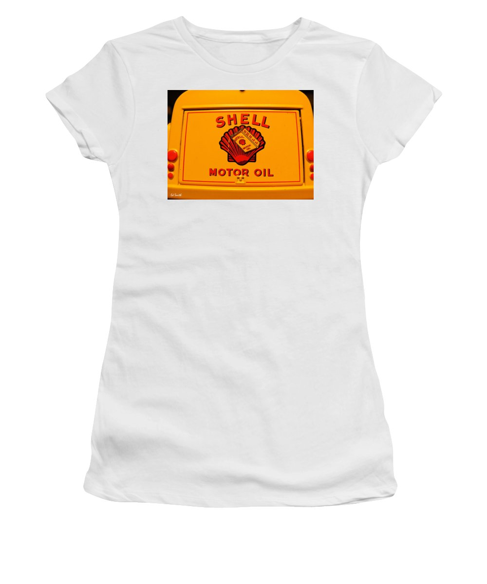 Back It Up Joe Women's T-Shirt (Athletic Fit) featuring the photograph Back It Up Joe by Ed Smith