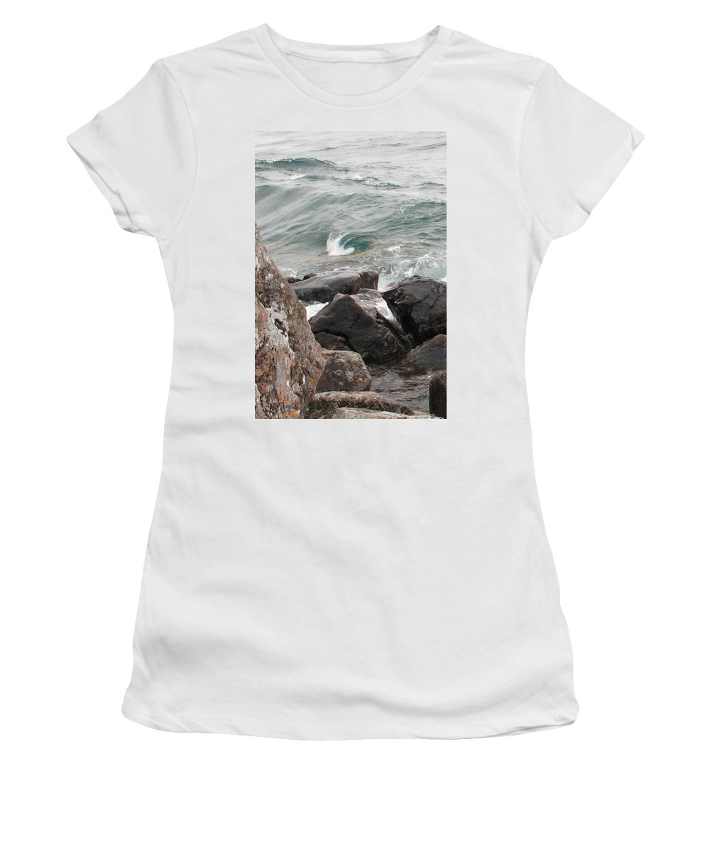 Wave Women's T-Shirt (Athletic Fit) featuring the photograph Back Swirl by Kelly Mezzapelle