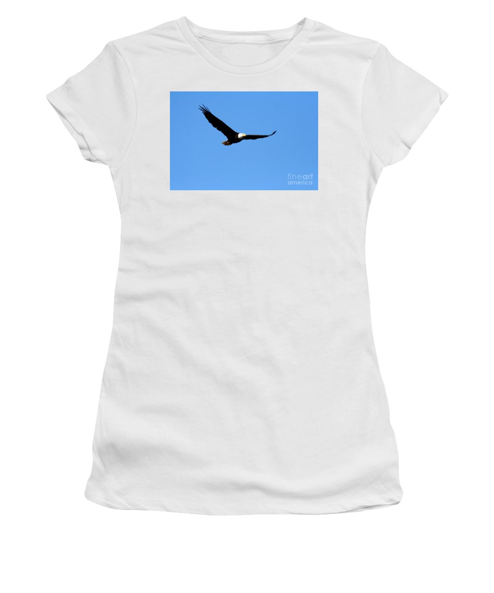Eagle Women's T-Shirt (Athletic Fit) featuring the photograph Bald Eagle II by Thomas Marchessault
