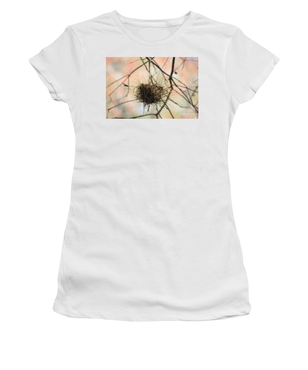 Ball Moss Women's T-Shirt (Athletic Fit) featuring the photograph Ball Moss by Carol Groenen