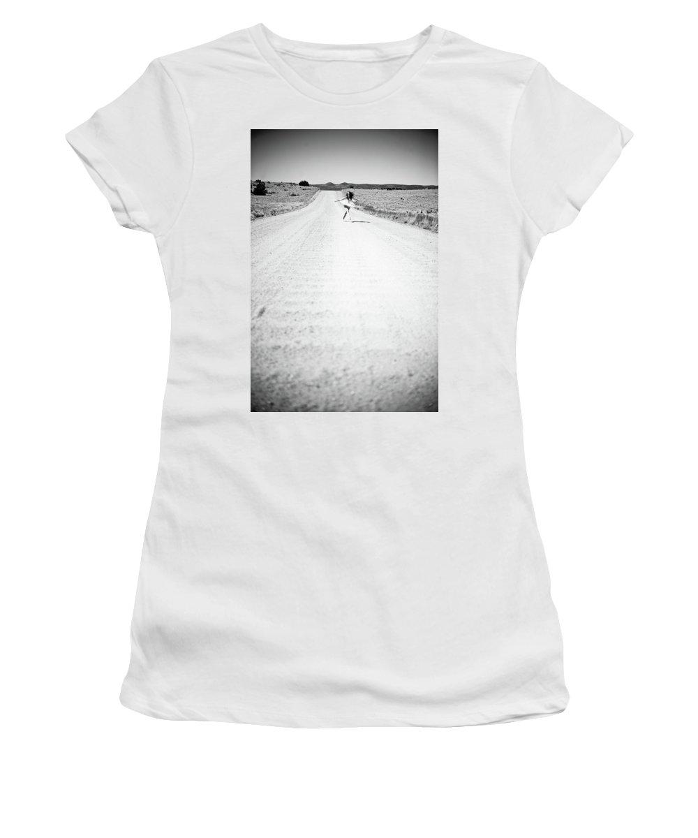 Road Women's T-Shirt featuring the photograph Ballet Runaway by Scott Sawyer