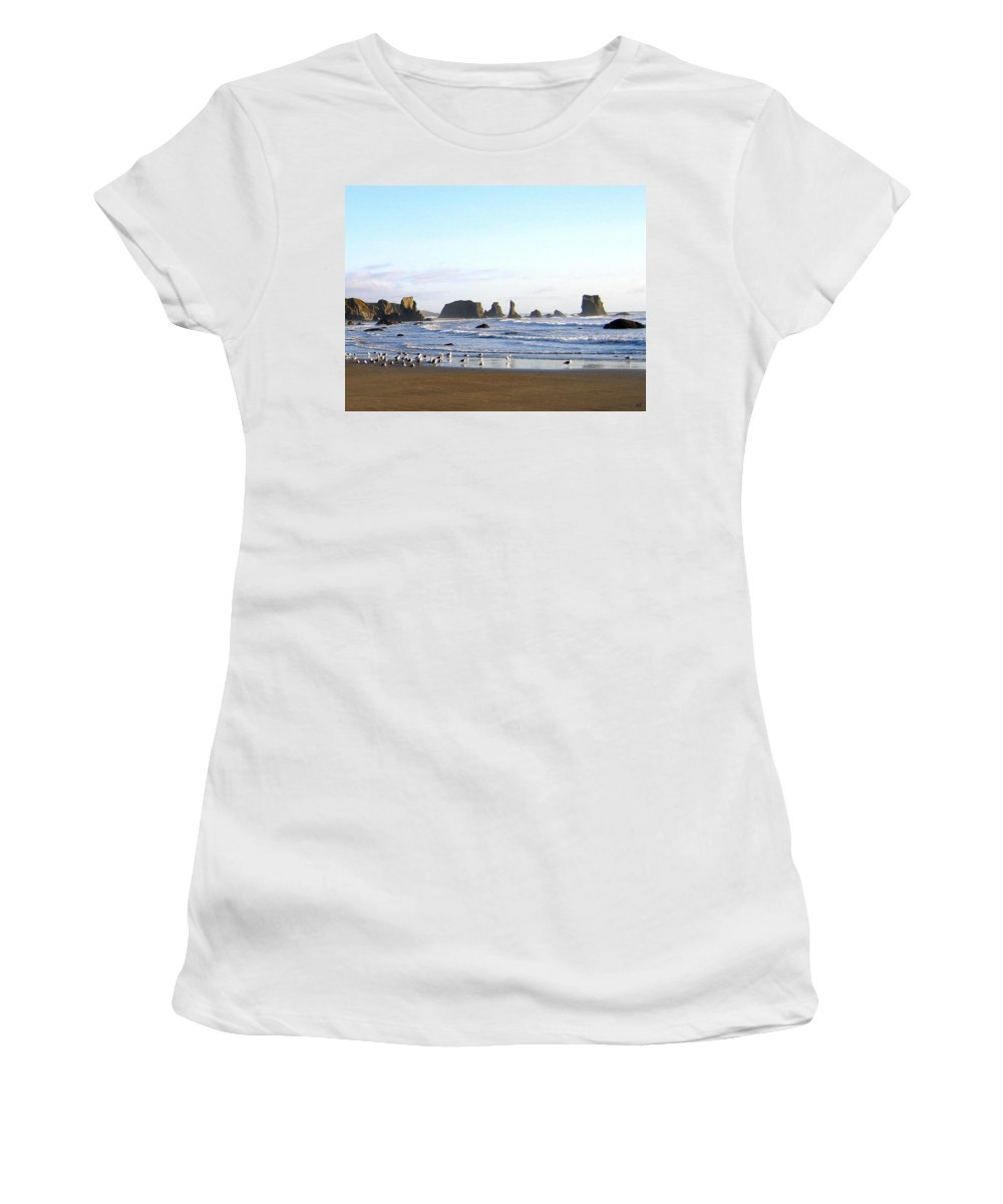 Seascape Women's T-Shirt featuring the photograph Bandon 36 by Will Borden