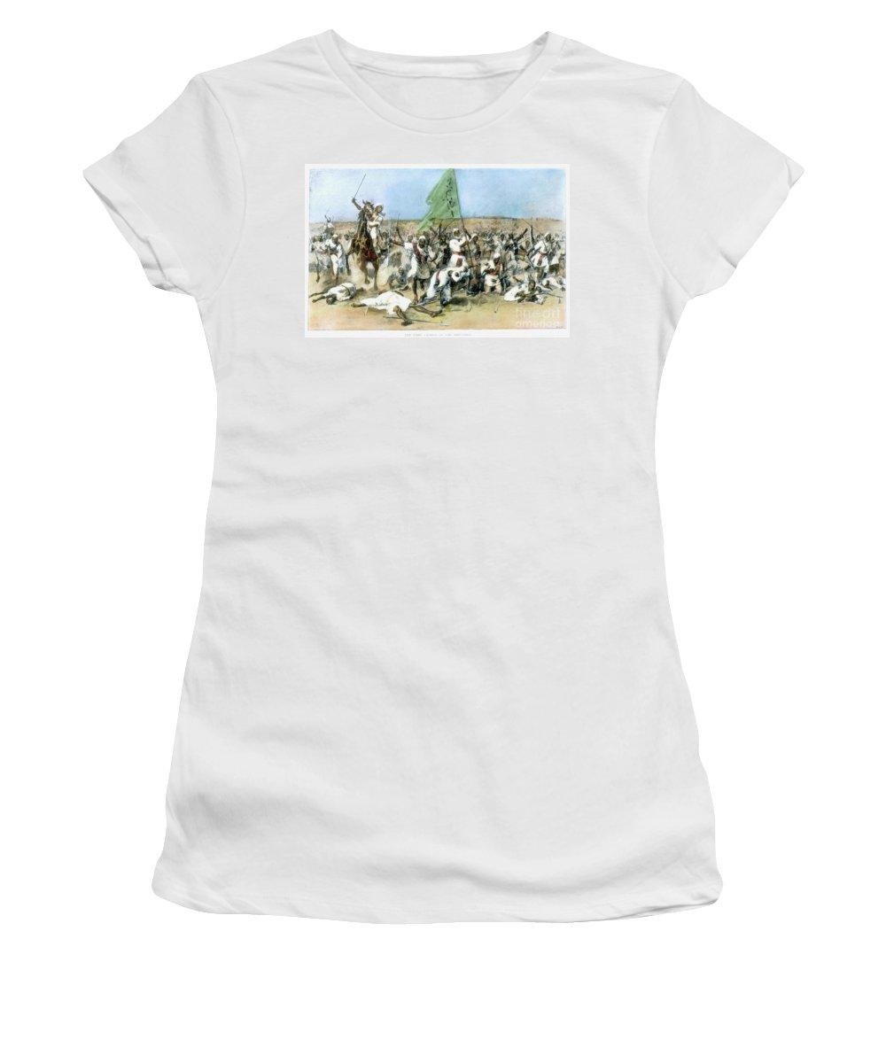 1898 Women's T-Shirt featuring the painting Battle Of Omdurman 1898 by Granger