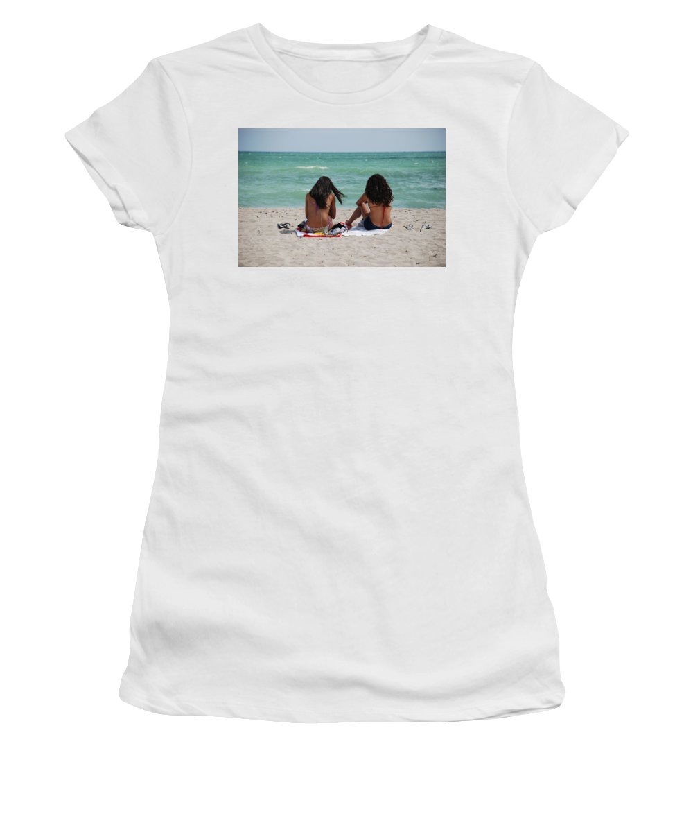 Women Women's T-Shirt (Athletic Fit) featuring the photograph Beauties On The Beach by Rob Hans