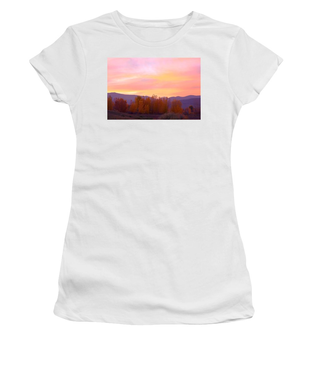 Sunsets Women's T-Shirt featuring the photograph Beautiful Autumn Sunset by James BO Insogna