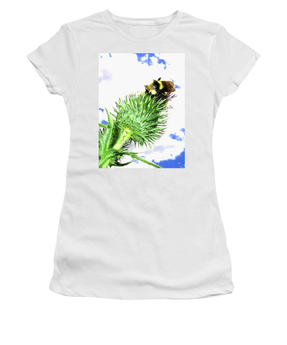 Bee Women's T-Shirt (Athletic Fit) featuring the photograph Bee-line 4 by Will Borden
