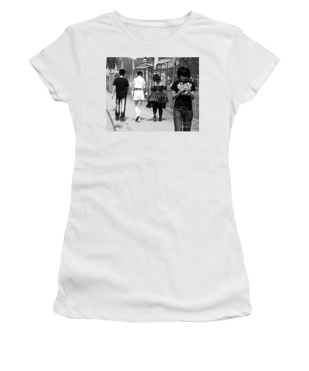 Beijing Women's T-Shirt (Athletic Fit) featuring the photograph Beijing City 13 by Xueling Zou
