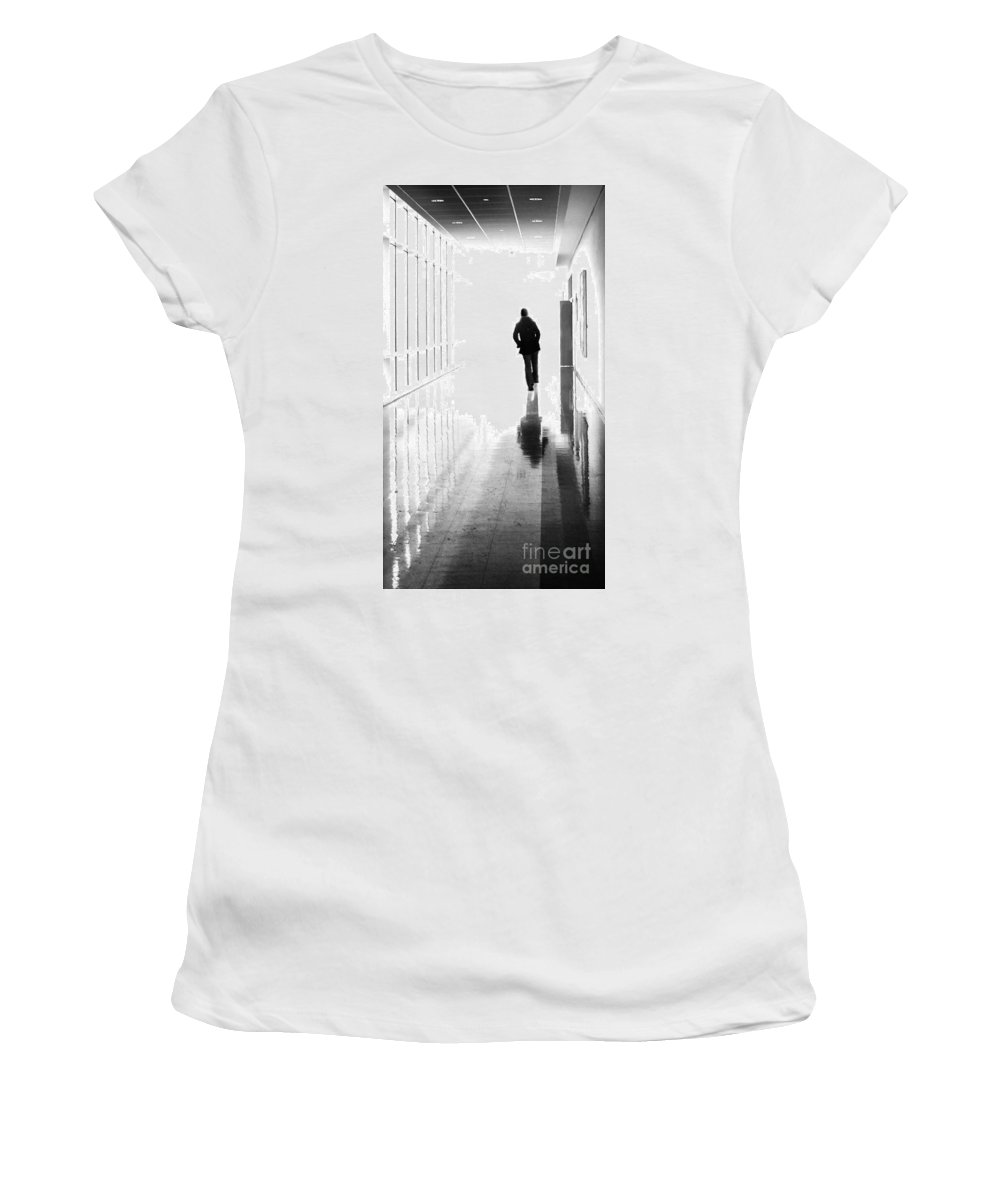 Dipasquale Women's T-Shirt (Athletic Fit) featuring the photograph Being Alone Doesnt Mean Youre Free by Dana DiPasquale