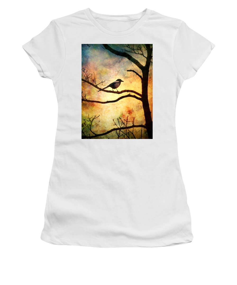 Bird Women's T-Shirt (Athletic Fit) featuring the photograph Believing In The Morning by Tara Turner