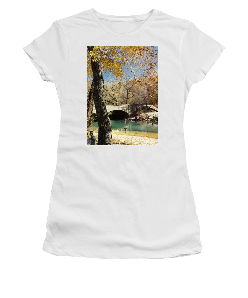 Landscape Women's T-Shirt featuring the photograph Bennet Springs by Steve Karol