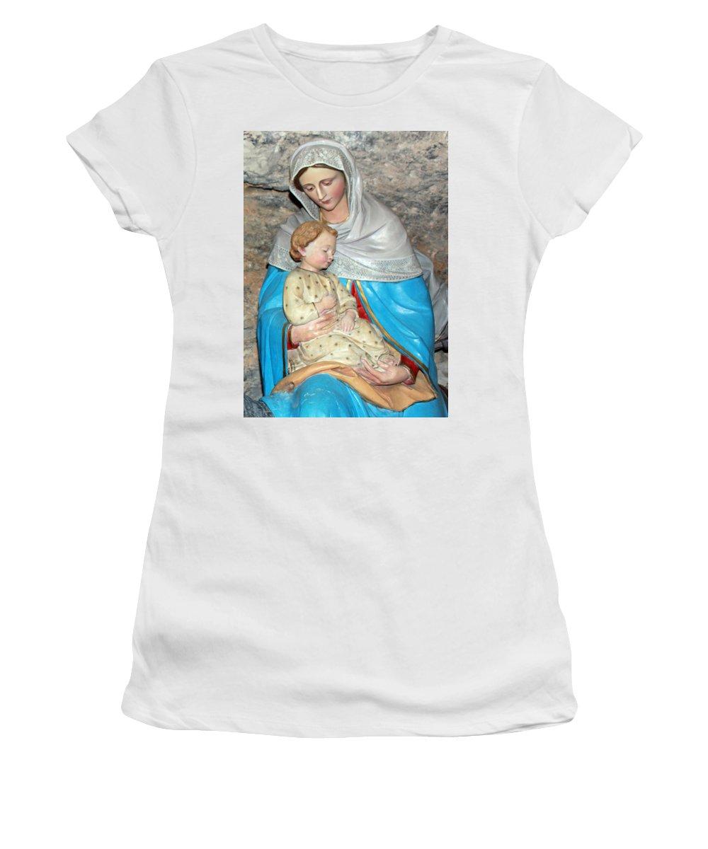 Milk Women's T-Shirt (Athletic Fit) featuring the photograph Bethlehem - Milk Grotto Church by Munir Alawi