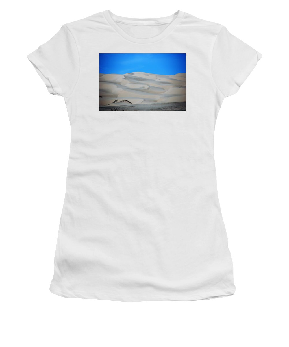 Sand Women's T-Shirt (Athletic Fit) featuring the photograph Big Sand Dunes In Ca by Susanne Van Hulst