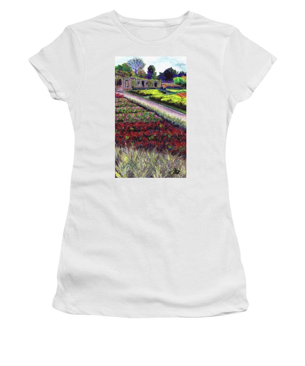 Garden Women's T-Shirt featuring the pastel Biltmore Walled Gardens by April Zaidi