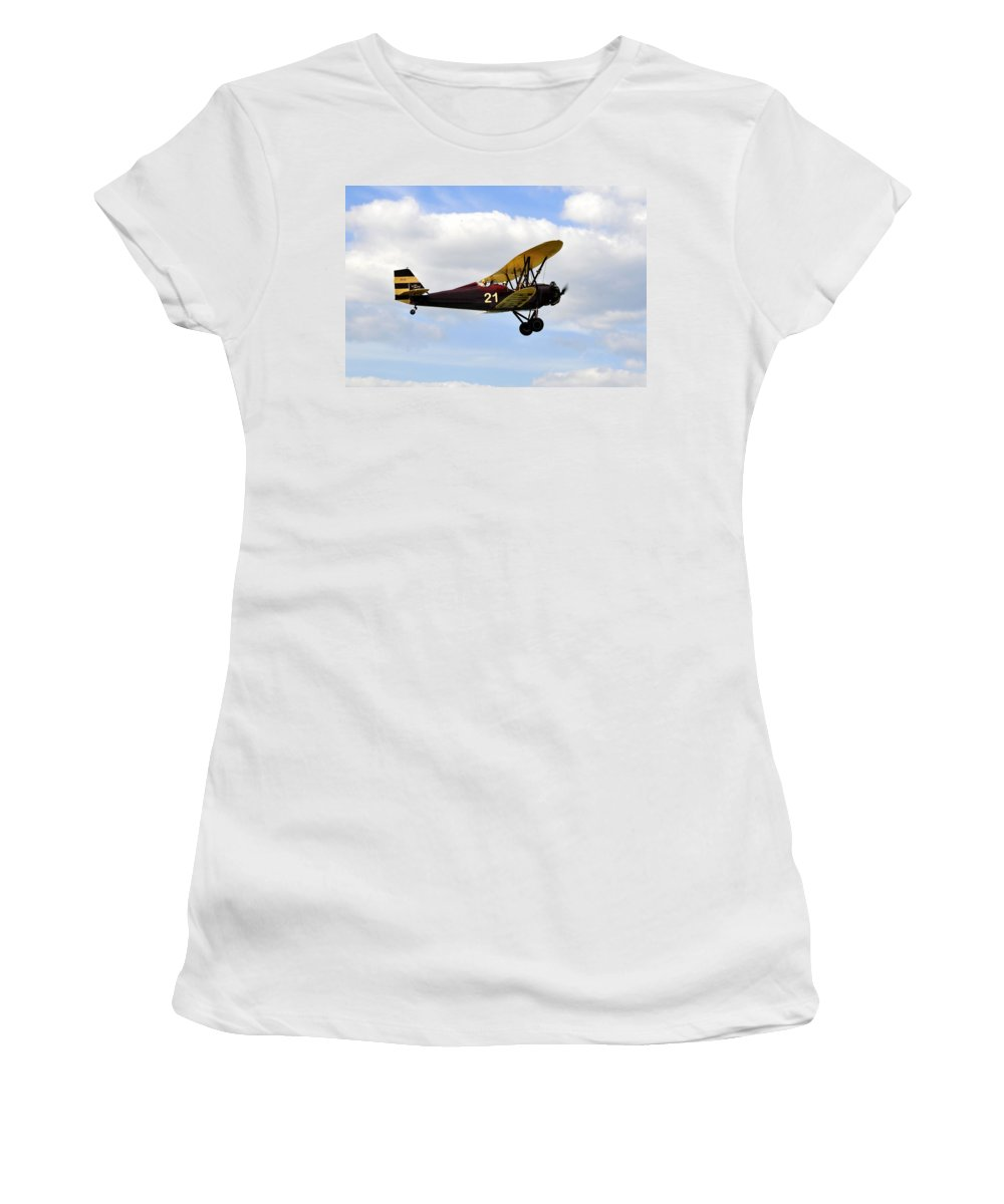 Biplane Women's T-Shirt featuring the photograph Biplane by David Lee Thompson