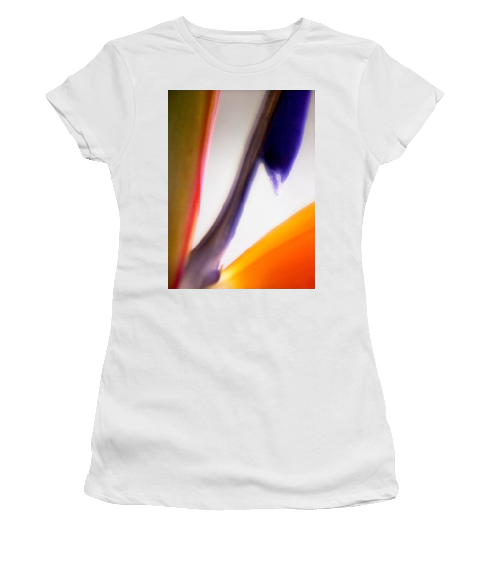Macro Women's T-Shirt (Athletic Fit) featuring the photograph Bird Of Paradise by Lee Santa