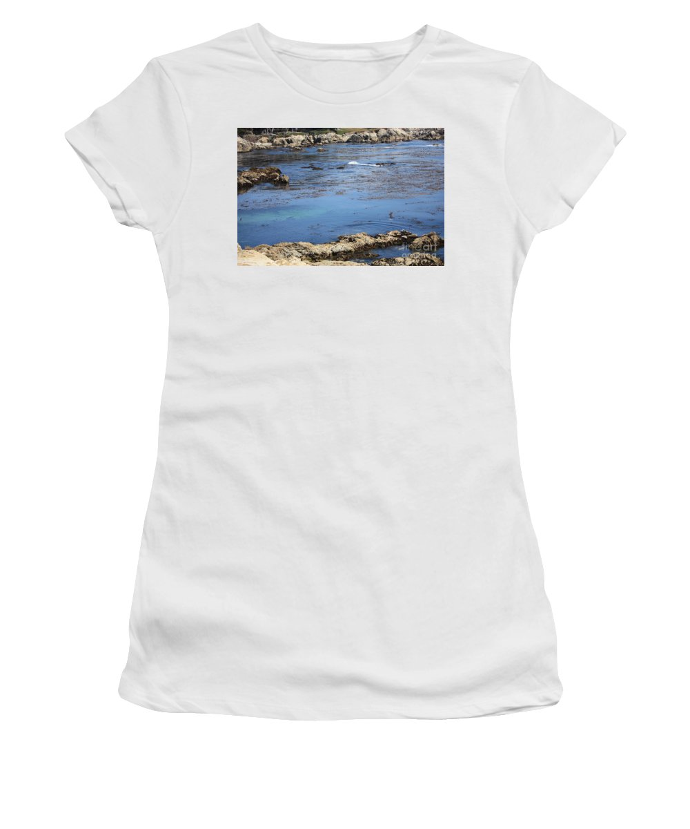 California Women's T-Shirt (Athletic Fit) featuring the photograph Blue California Bay by Carol Groenen