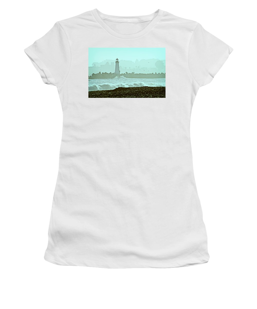 Blue Women's T-Shirt (Athletic Fit) featuring the photograph Blue Mist 2 by Marilyn Hunt