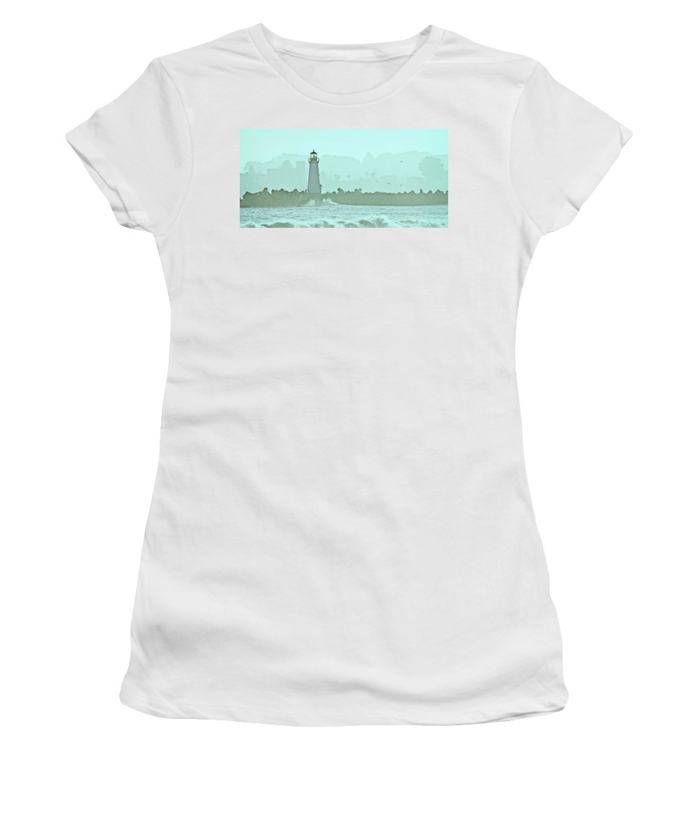 Blue Women's T-Shirt (Athletic Fit) featuring the photograph Blue Mist 3 by Marilyn Hunt