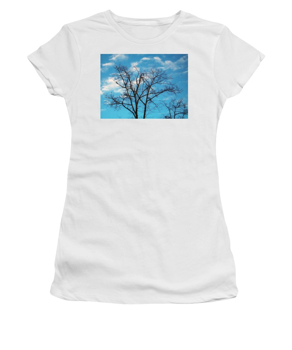 Tree Women's T-Shirt (Athletic Fit) featuring the photograph Blue Sky by Munir Alawi