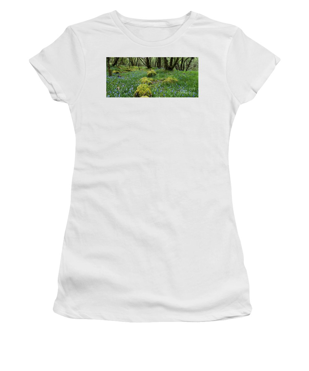 Flowers Women's T-Shirt (Athletic Fit) featuring the photograph Bluebell Woods by Francesca Winspeare