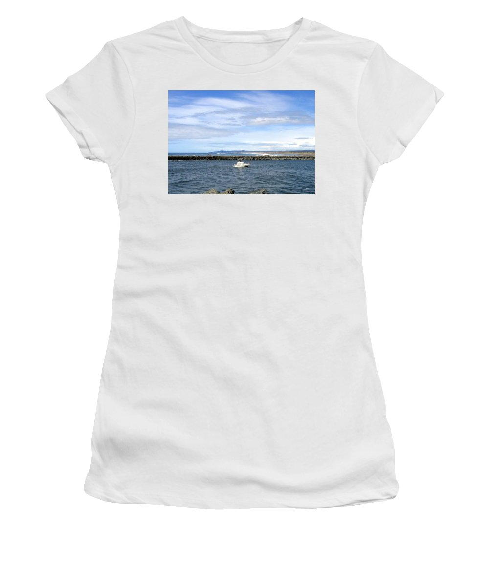 Boat Women's T-Shirt (Athletic Fit) featuring the photograph Boating At Bandon by Will Borden
