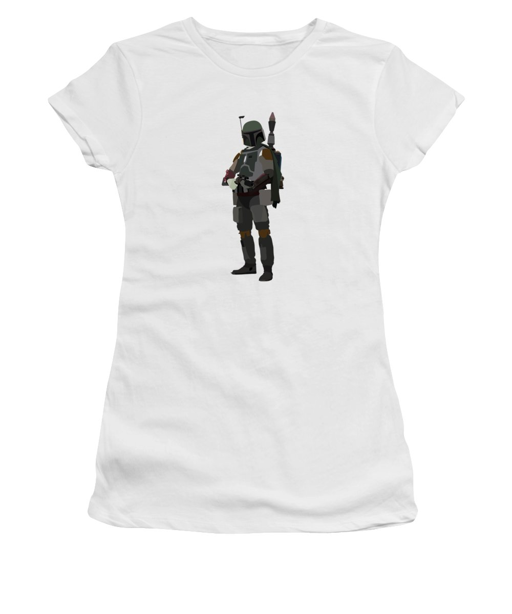 Star Wars Women's T-Shirt featuring the digital art Boba Fett Star Wars Character quotes poster by Lab No 4