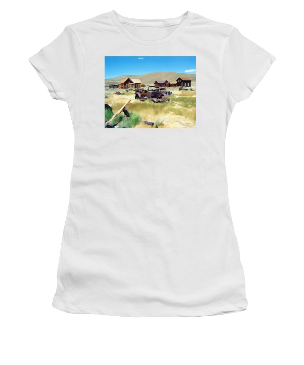 Bodie Women's T-Shirt (Athletic Fit) featuring the photograph Bodie by Kurt Van Wagner