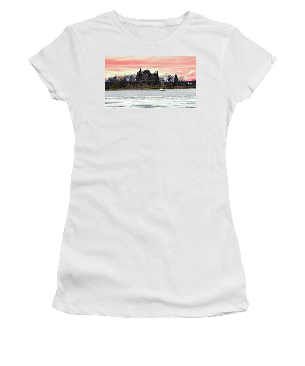 Boldt Castle Women's T-Shirt featuring the photograph Boldt Castle 12 by Joseph F Safin