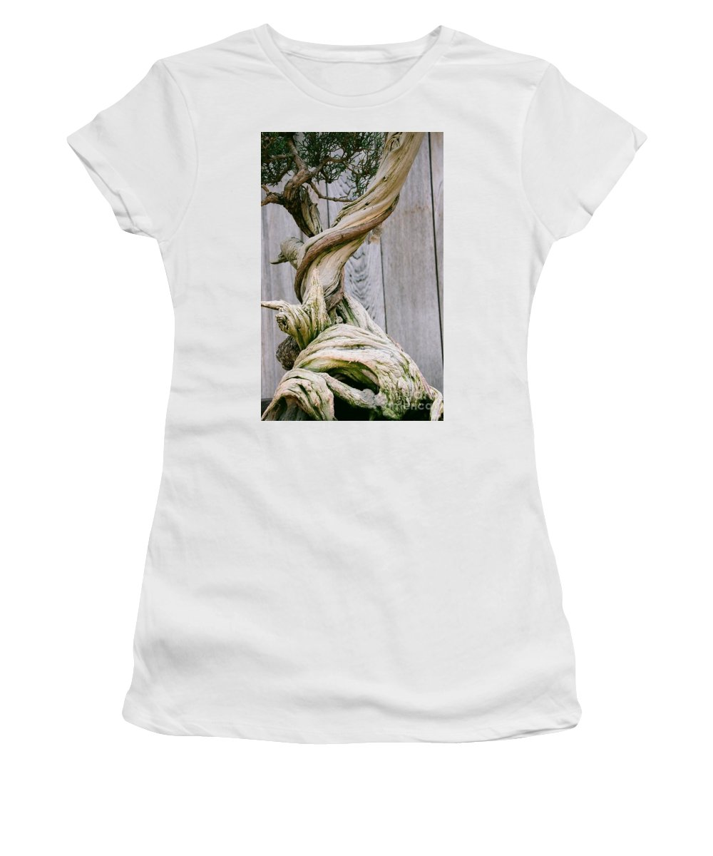 Tree Women's T-Shirt (Athletic Fit) featuring the photograph Bonsai by Dean Triolo