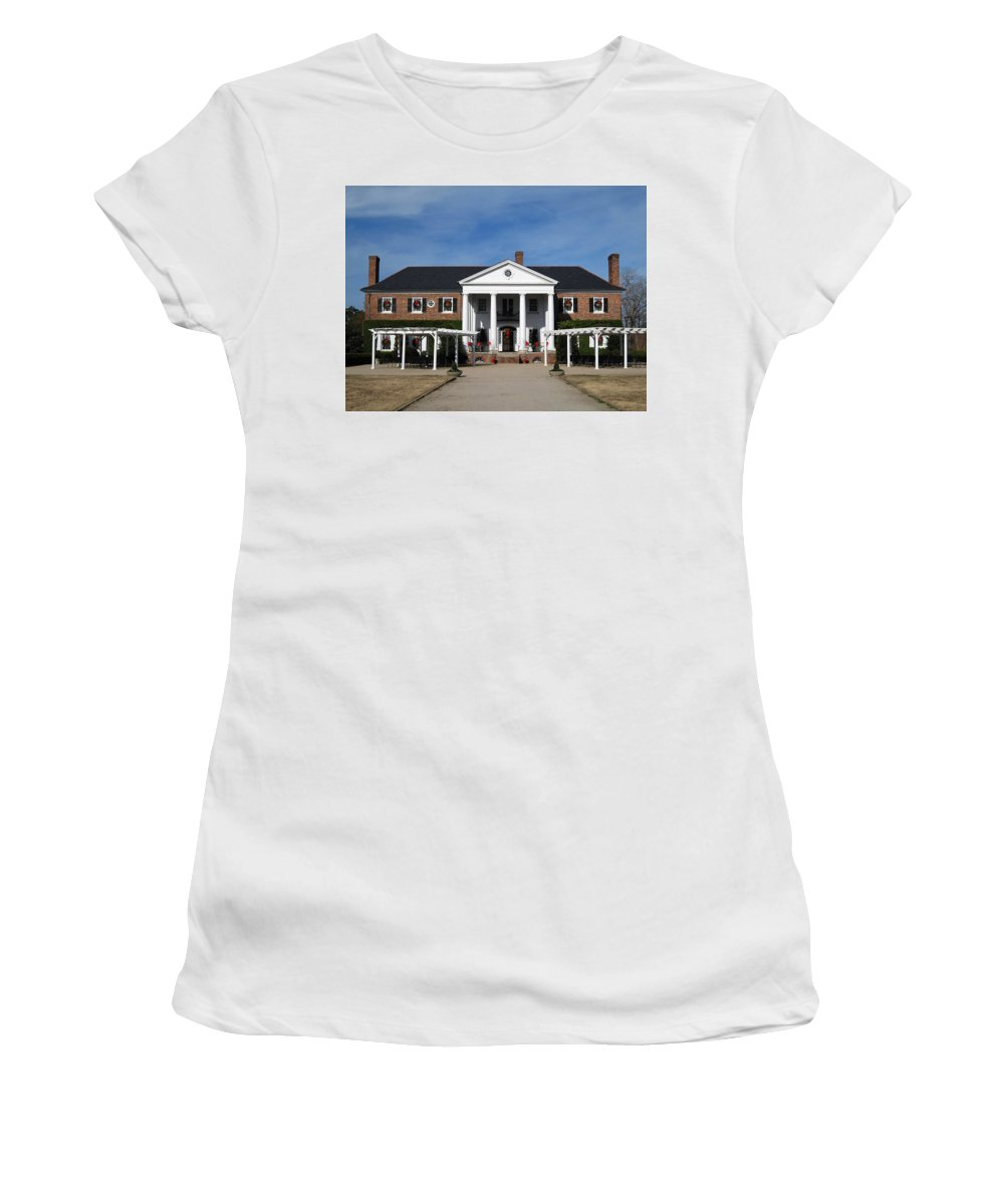 Photography Women's T-Shirt (Athletic Fit) featuring the photograph Boone Hall Plantation Charleston Sc by Susanne Van Hulst
