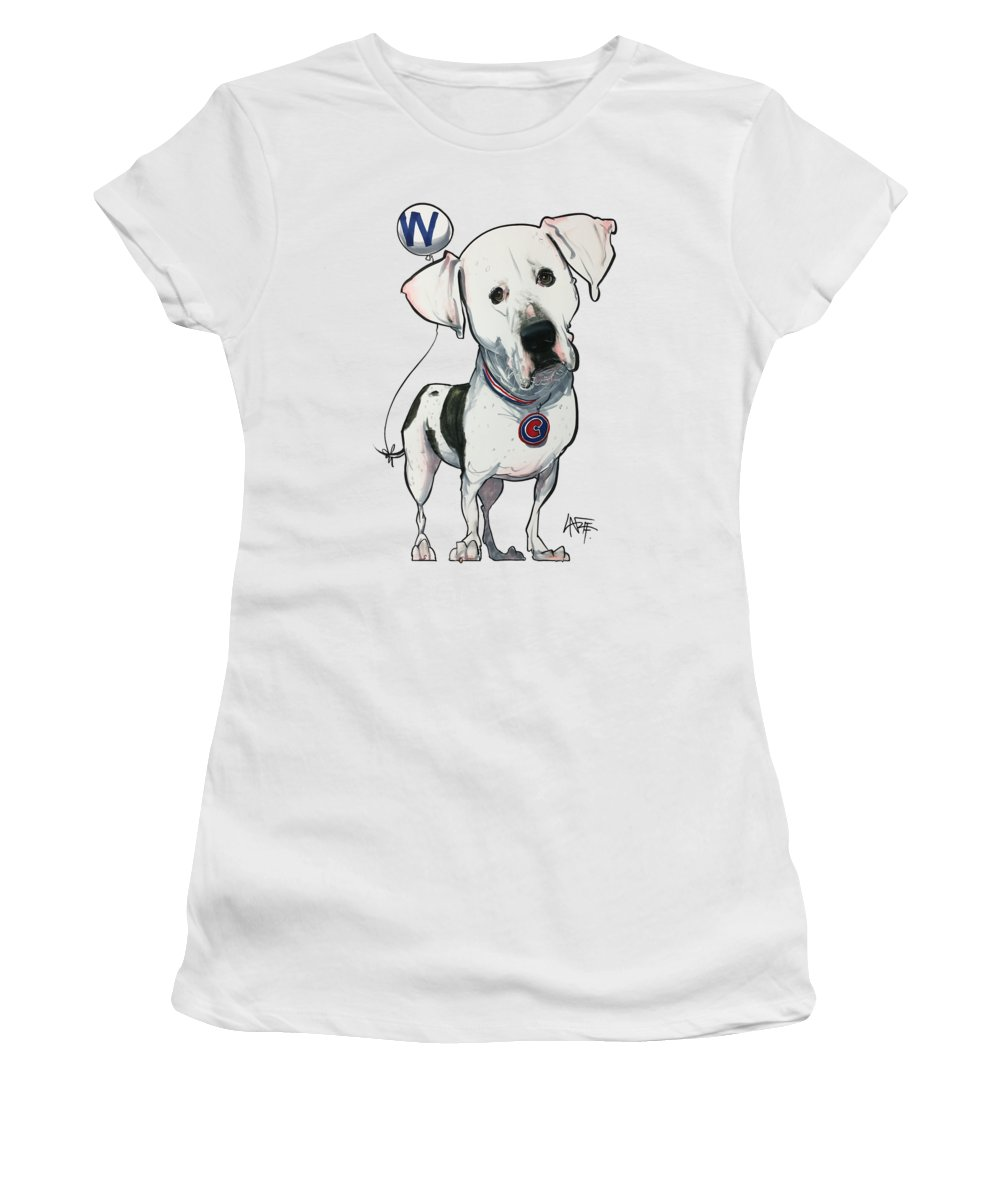 Pet Portrait Women's T-Shirt featuring the drawing Boyd 3377 by John LaFree