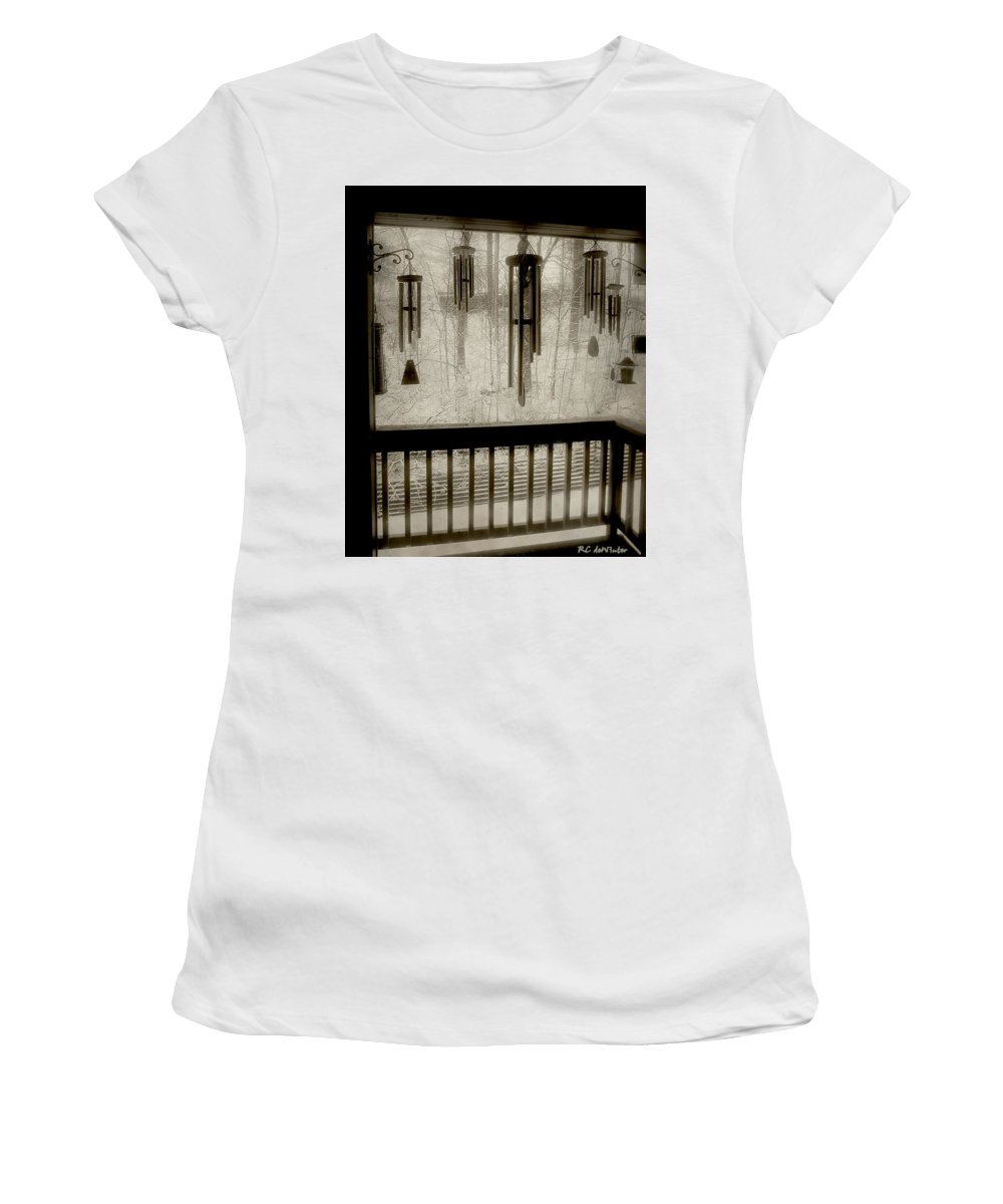 Balcony Women's T-Shirt (Athletic Fit) featuring the photograph Breathe Deep The Gathering Gloom by RC DeWinter